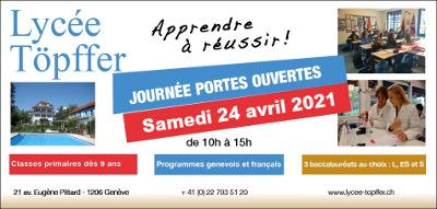 Journée Portes Ouvertes 2021: Samedi 24 Avril