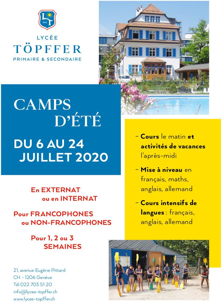 Nouveau programme pour le camp d'été 2020